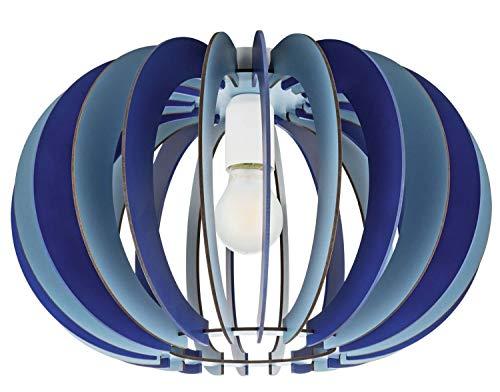 EGLO FABELLA plafondlamp, staal, 60 W, blauw