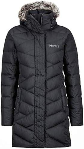 Marmot Women Varma Long Quilted Hooded Down Jacket Black Medium product image