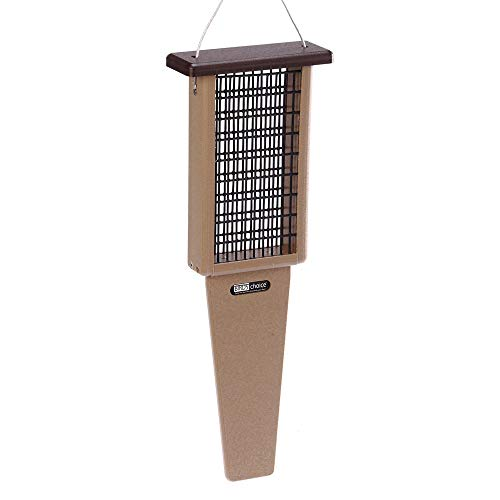 Birds Choice 2-Cake Pileated Suet Feeder with Brown Top