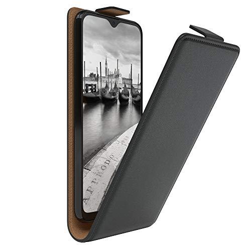 EAZY CASE Hülle kompatibel mit Samsung Galaxy A20e Flip Cover zum Aufklappen, Handyhülle aufklappbar, Schutzhülle, Flipcover, Flipcase, Flipstyle Hülle vertikal klappbar, aus Kunstleder, Schwarz