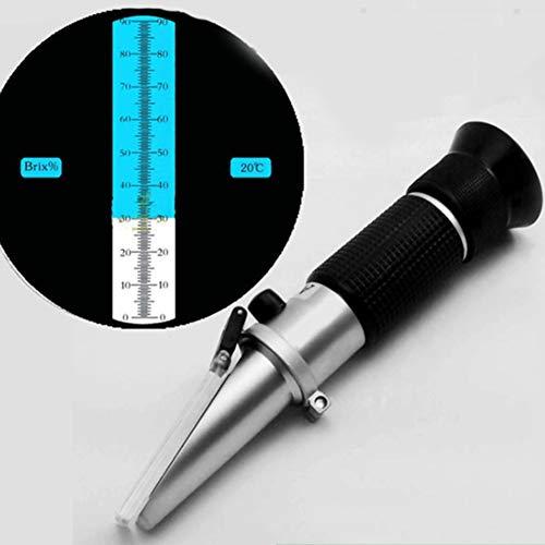XFY Brix Refraktometer 0~90%, Handrefraktometer, Brix-Meter zur Messung des Zuckergehalts in Früchten, Säften und Marmeladen