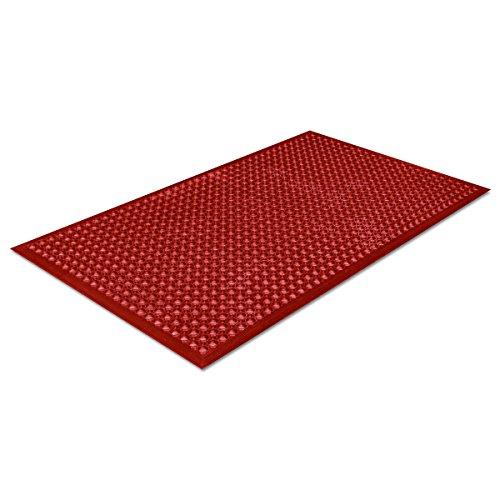 Safewalk-Light Heavy-Duty Anti-Fatigue Mat, Rubber, 36 x 60, Terra Cotta,...