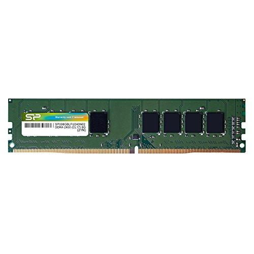 シリコンパワー デスクトップPC用メモリ DDR4-2400(PC4-19200) 4GB×1枚 288Pin 1.2V CL17 永久保証 SP004GBLFU240N02