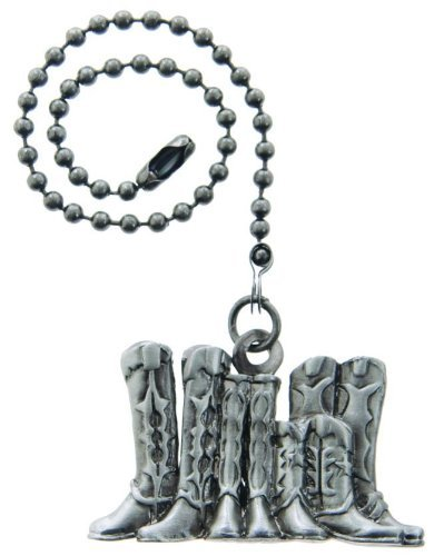 Lazart Boots Pewter Pull Chain for Ceiling Fans, Lamps & Lighting