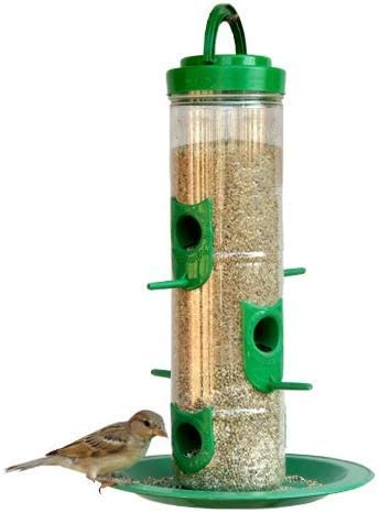 Amijivdaya Large Bird Feeder with Holding Handle (Green)