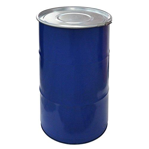 meier Stahlfass Hobbock 30 bis 120 Liter Spundfass Deckelfass Metallfass, Verschiedene Größen (120 Liter)