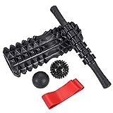 """Fyore 13"""" Foam Roller 5 Piece Set Massage Roller for Deep Tissue Muscle"""