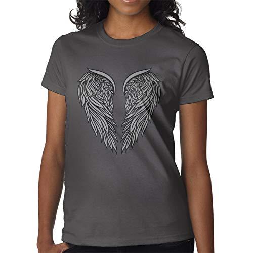 Maglietta da donna a maniche corte Icona di splendide ali di angelo araldiche magliette abbigliamento da lavoro all'aperto t-shirt t-shirt per le donne