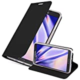 Cadorabo Hülle für Samsung Galaxy Note 3 - Hülle in SCHWARZ – Handyhülle mit Standfunktion & Kartenfach im Metallic Erscheinungsbild - Case Cover Schutzhülle Etui Tasche Book Klapp Style