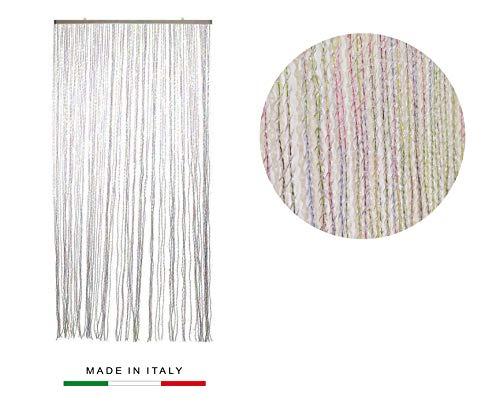 Gieffe Tenda Alice 125x235cm Multicolor | Tenda Made in Italy Antimosche Trasparente...