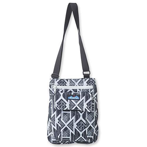 KAVU For Keeps Bag With Hip Crossbody Adjustable Purse Strap - Carbon Tribal