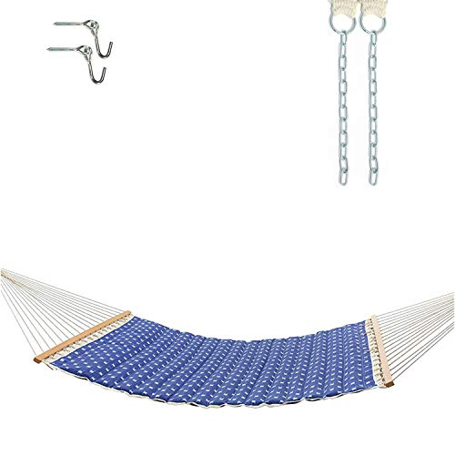 Castaway Hammocks Large Polyester Pillowtop Hammock with Free Extension Chains & Tree Hooks, Accommodates 2 People, 350 LB Weight Capacity, 13 ft. x 55 in. - Dash Weave