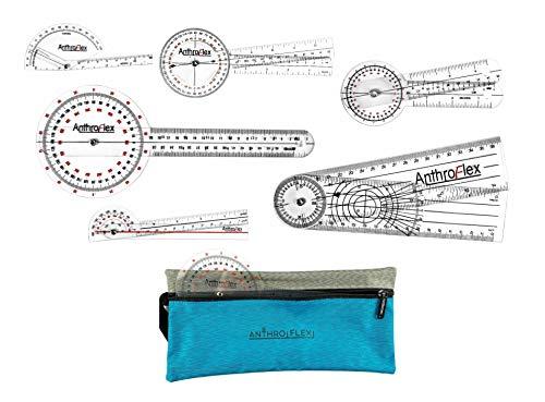 AnthroFlex Goniómetro juego de 6 con bolsa de transporte