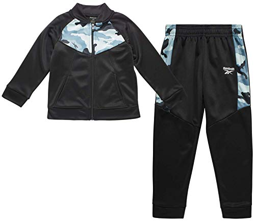 Reebok Baby Boys? Tracksuit Set with Jacket and Joggers (Infant/Toddler), Size 3T, Black-Camo