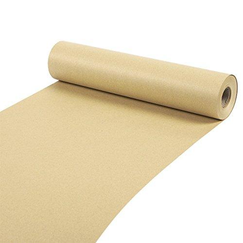 Packpapier-Rollevon Juvale - Kraftpapier-Rolle als Verpackungspapier, Geschenkverpackung, für Bastelarbeiten, zum Versand - Braun - 30,5 cm breit, 30,5 m lang