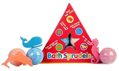 Bath Sprudels Sei bombe da bagno con una singola spugna