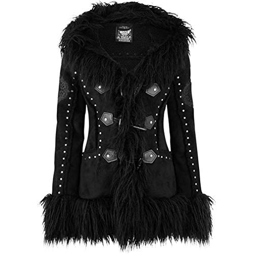 Killstar Kunstfell Shearling Mantel - Salem City M
