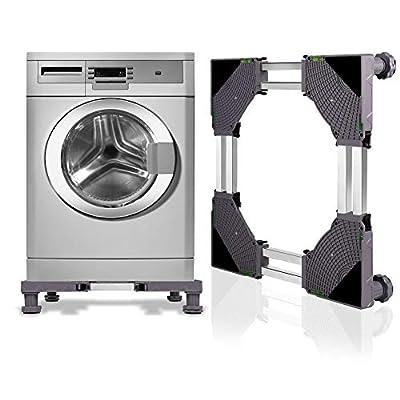 KELIXU Adjustable Base Double Tube Multi-functional Upgraded with 4 Strong Feet Raised Base for Washing Machine,Dryer and Refrigerator