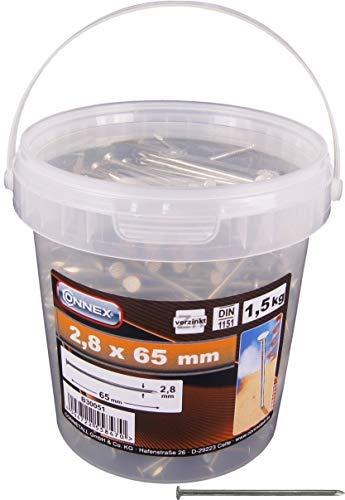 Max-Power B30051 Secchiel.1.5 kg Chiodi Tp 2.8 x 65 mm