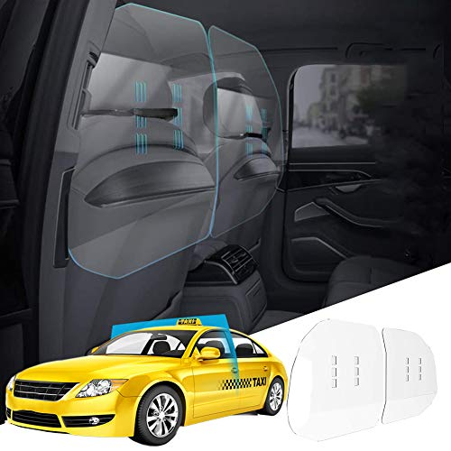 CABINAHOME Car Taxi Partition Sneeze Guard, Rideshare Shield -Large Clear Protective Screen for Rideshare and Cab Drivers (Measure The Width of Your Car Before Buying)