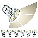 EACLL Bombillas LED GU10 6W 4000K Fuente de Luz Regulable Blanca Neutra 635 Lúmenes Lámparas Reflectoras. Atenuación de 3 Niveles Solo Con un Interruptor Normal. AC 230V Sin Parpadeo Focos, 6 Pack
