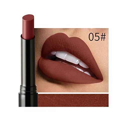 IGEMY NICEFACE lang anhaltende Samt Matte Farbe Bleistift Wasserdicht Lippenstift Wachsmalstift Sexy Make-up (E)