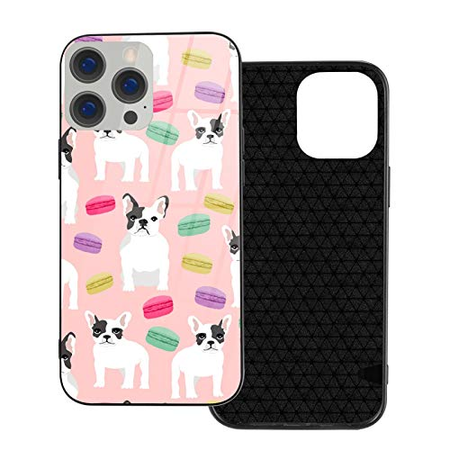 French Bulldog Macaron Sweets Ip12pro Max-6.7 Fashion TPU Glass Phone Case iPhone 12/12max Shockproof Protective Phone Case