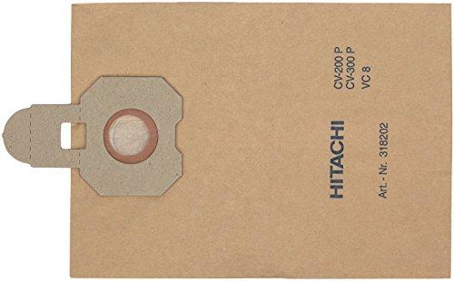 HITACHI 2032835 Papierfilterbeutel für Hitachi Staubsauger CV-300P und CP-400P ECO, 10er Pack