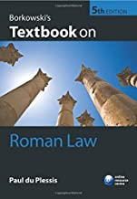 By Paul du Plessis - Borkowski's Textbook on Roman Law (5th Edition) (2015-07-08) [Paperback]