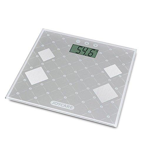 Joycare JC-1418 Báscula personal electrónica Plaza Gris - Báscula de baño (Báscula personal electrónica, 150 kg, 100 g, kg, lb, ST, Plaza, Gris)