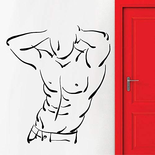 Bodybuilding wall stickers fitness center home decoration cool fitness sports decoration wall self-adhesive paper 42X36cm