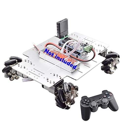 SFUO PS2 Manejar RC 25kg Big Cargar 78mm Mecanum Robot Robot Robot Kit de chasis de Coche con 4pcs 12V Codificador de Velocidad Ajuste para Arduino Tiro DIY