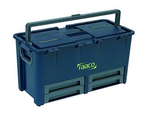 raaco 136624 Werkzeugkoffer Compact 62, dunkelblau