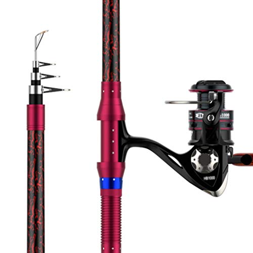 Angelrute Carbon-Ultra-Leicht Super Hard Angelrute Professioneller Spinnrute Set Angelrute und Reel Combo Angelrute Pole...