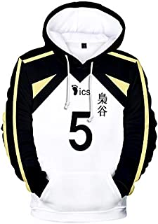 Anime Haikyuu Cosplay Costume Fukurodani Academy Volleyball Club Akaashi Keiji Bokuto Koutarou Unisex 3D Hoodie Sweatshirt