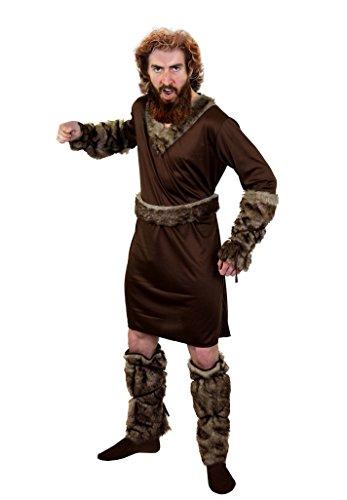 I LOVE FANCY DRESS LTD SUPER Wikinger /Vikings KOSTÜM DER Ragnar KLASSE=ERHALTBAR IN 5 VERSCHIEDENEN GRÖSSEN=BEEINHALTET-Tunika+GÜRTEL+2 ARM Fellimitat BINDEN +2 Fell IMITAT STULPE=XXLarge