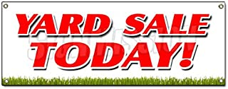 Yard Sale Today Banner Sign Household Tools New Used Furniture Toys