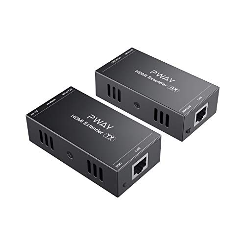 PW-HT202P(POC)hdmiエクステンダー 165ft / 50mロスレス伝送、Cat5e/6/7フルHD 1080P Support 3D EDID One Power Supply (UTP+Transmitter and Receiver)