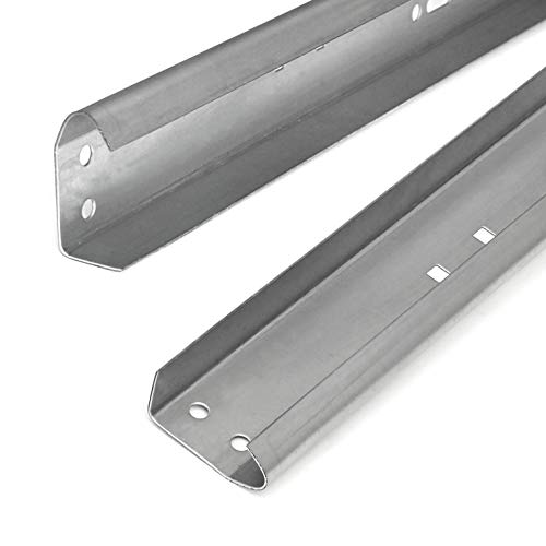 Garage Door Vertical Track Replacement – Set of Left and Right for 7 Foot Tall - Garage Door Rails Galvanized Steel Hardware Door Rails for Residential/Light Commercial Side Tracks for 2-inch Rollers
