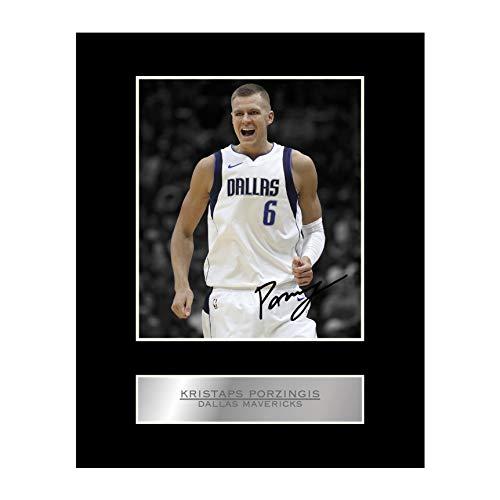 Kristaps Porzingis - Foto firmada de Dallas Mavericks #01 de la NBA