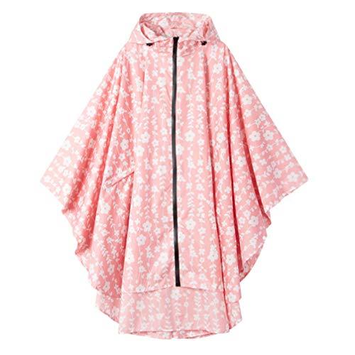 PRETYZOOM Regenmantel mit Kapuze Poncho Schutz Regenmäntel Decken Notfallschutzmantel Sicherheit Reise Sonnenschutz Plane für Outdoor-Camping Wandern (Rosa)