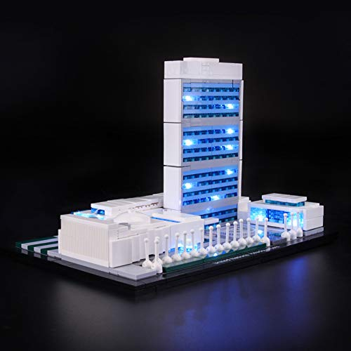 WXX Kit de iluminación LED para Lego Compatible en el Edificio de la sede de la Onu, niños en Las Fiestas (Excepto Building Blocks)