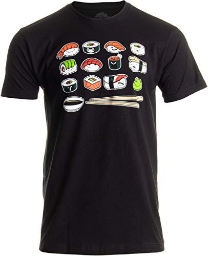Happy Sushi   Playera divertida y divertida japonesa Food Go Rice Art para hombres y...