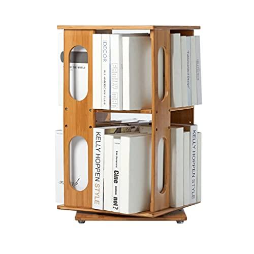 Sujetalibros Bookshelf Bamboo 360 ° Rotación de Libros Simples Pisos de múltiples Capas Multi-Capa Estante Adecuado para gabinetes de exhibición de la Oficina y el hogar Escuela, Estudio, Oficina