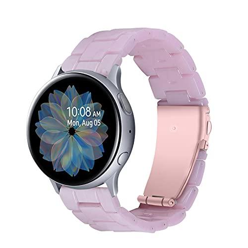 Correa De Resina Compatible con Galaxy Watch 20Mm, Pulsera De Color Correas De Repuesto Strap Transpirable Joyas Deportivas Compatible con Galaxy Watch 20Mm Reloj Inteligente Mujer Hombre,D