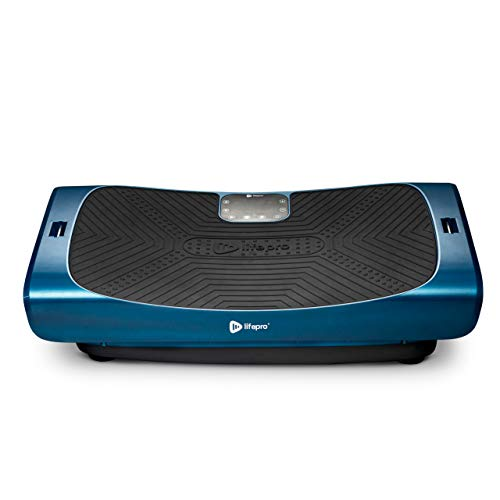 LifePro Rumblex 4D Pro Vibration Plate - Whole Body Vibration Platform Exercise Machine - Home Workout Equipment for Weight Loss, Toning & Wellness - Full Bundle of Bands, Straps & Accessories (Blue)