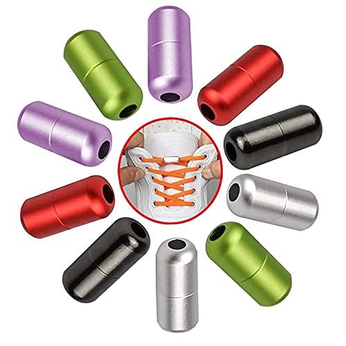 WiDream 10 Paia Metallo per Lacci Delle Scarpe Fibbia, Fibbia Lazy Laces, No Legare Lacci Delle Scarpe Fibbia, Fibbia Elastica per Laccii, Fit Bambini Adulti Scarpe Creative