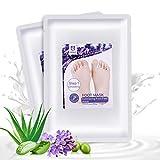 MayBeau Hornhaut Socken Fußmaske Peeling und Whitening Hornhautentferner Hornhaut Entfernung 2 Paar Lavendel Fuß Peeling Maske für Männer Frauen zur Entfernung Exfoliating Schälen In 2-7 Tagen