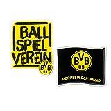 Borussia Dortmund BVB-Doming-Aufkleber (2er-Set), schwarz/Gelb, one Size