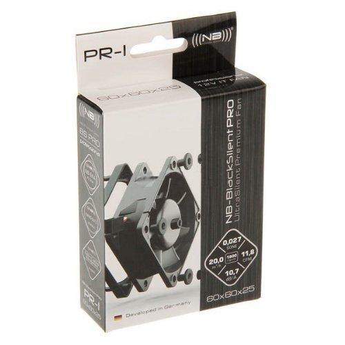Noiseblocker Mini PC Gehäuselüfter BlackSilent Pro PC Fan PR1 - 12v Lüfter Leise - PC Lüfter 60mm mit Silent Wings - PC Ventilator nur 20 m3/h bei 1.800 U/min